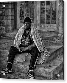 On The Steps Of Gods' House Acrylic Print by Kelly Rader