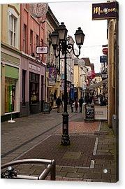 On The Street In Cork Acrylic Print by Rae Tucker