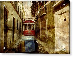 Acrylic Print featuring the photograph On The Streets Of Lisbon by Dariusz Gudowicz