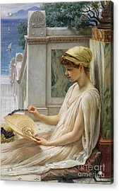 On The Terrace Acrylic Print by Sir Edward John Poynter