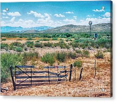 Acrylic Print featuring the photograph On The Texas Plans by Charles McKelroy