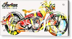 Acrylic Print featuring the painting On The Warpath Signed Ed. 20 by Charlie Spear