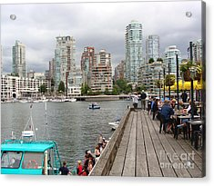 Acrylic Print featuring the painting On The Water At False Creek Vancouver by Rod Jellison