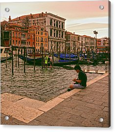 Acrylic Print featuring the photograph On The Waterfront by Anne Kotan