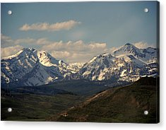 On The Way To Jacksonhole Wy Acrylic Print by Susanne Van Hulst