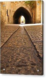 On The Way To The Western Wall - The Kotel - Old City, Jerusalem, Israel Acrylic Print by Yoel Koskas