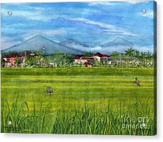Acrylic Print featuring the painting On The Way To Ubud 3 Bali Indonesia by Melly Terpening