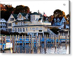 Acrylic Print featuring the photograph On The Wharf by Anne Raczkowski