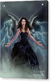 Acrylic Print featuring the painting On The Wings Of The Storm by Amyla Silverflame