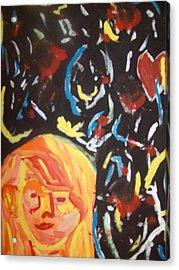 On This Sleepless Night Acrylic Print by Samantha  Gilbert