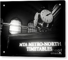 On Time At Grand Central Station Acrylic Print by James Aiken