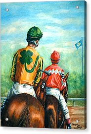 On To The Track Acrylic Print by Thomas Allen Pauly