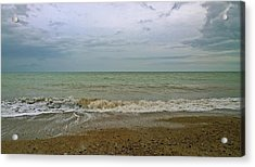 Acrylic Print featuring the photograph On Weymouth Beach by Anne Kotan