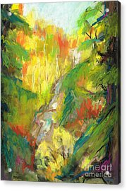 Acrylic Print featuring the painting Once A Waterfalls by Frances Marino