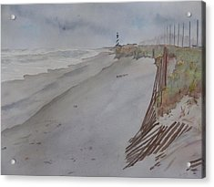 Acrylic Print featuring the painting Once There Was A Lighthouse by Joel Deutsch