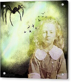 Acrylic Print featuring the digital art Once There Was A Spider by Delight Worthyn