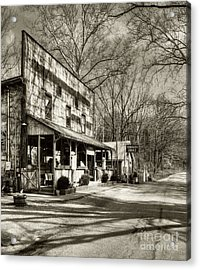 Once Upon A Story # 2 Sepia Tone Acrylic Print by Mel Steinhauer