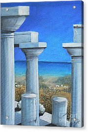 Once Upon A Time In Greece Acrylic Print by S G