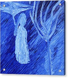 Acrylic Print featuring the painting Once Upon A Time In November by Vadim Levin