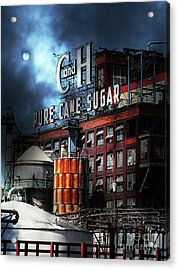 Acrylic Print featuring the photograph Once Upon A Time In The Sleepy Town Of Crockett California - 5d16760 - Vertical Cut by Wingsdomain Art and Photography