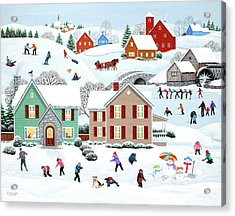 Once Upon A Winter Acrylic Print