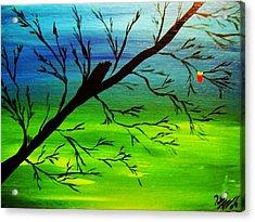 One Alive Acrylic Print by Paula Ferguson