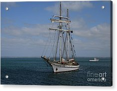 Acrylic Print featuring the photograph Approaching Kingscote Jetty by Stephen Mitchell
