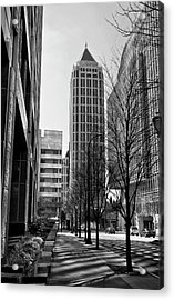 One Atlantic Center In Black And White Acrylic Print