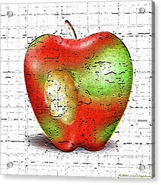 One Bad Apple Acrylic Print by Cristophers Dream Artistry