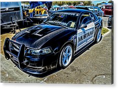One Bad Ass Squad Car Acrylic Print by Tommy Anderson