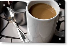 One Cup Of Coffee Acrylic Print by JAMART Photography