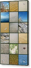 One Day At The Beach Ll Acrylic Print by Michelle Calkins