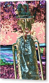 One Dimensional Man Acrylic Print by Marcia Lee Jones