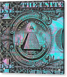 One-dollar-bill - $1 - Reverse Side Acrylic Print
