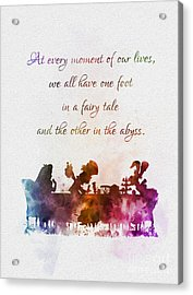 One Foot In A Fairy Tale Acrylic Print by Rebecca Jenkins