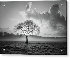 One Is A Lonely Number Black And White Acrylic Print