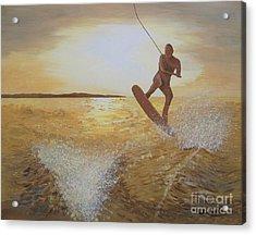 One Last Jump Acrylic Print by Jennifer  Donald
