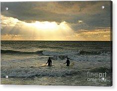 One Last Wave Acrylic Print by Matt Tilghman