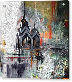 One Liberty Place And Two Liberty Place 229 3 Acrylic Print by Mawra Tahreem