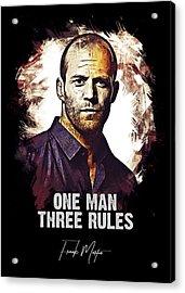 One Man Three Rules - Transporter Acrylic Print
