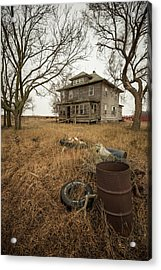 Acrylic Print featuring the photograph One Man's Trash... by Aaron J Groen