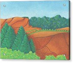 One Mesa Acrylic Print
