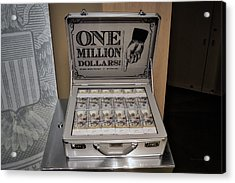 One Million Dollars In A Case Acrylic Print by Thomas Woolworth