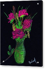 One More Rose Acrylic Print by Thomas J Norbeck