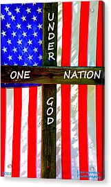 One Nation Under God Acrylic Print by Lisa Wooten