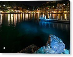 Acrylic Print featuring the photograph One Night In Portofino - Una Notte A Portofino by Enrico Pelos