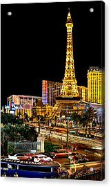 One Night In Vegas Acrylic Print by Az Jackson