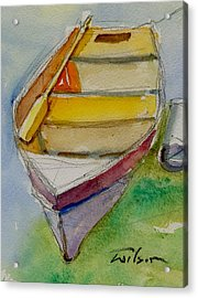One Oar Gone Acrylic Print by Ron Wilson