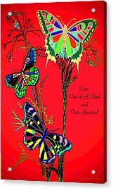 One Of A Kind Acrylic Print by Joyce Dickens