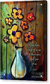 One Of A Kind Acrylic Print by Shevon Johnson
